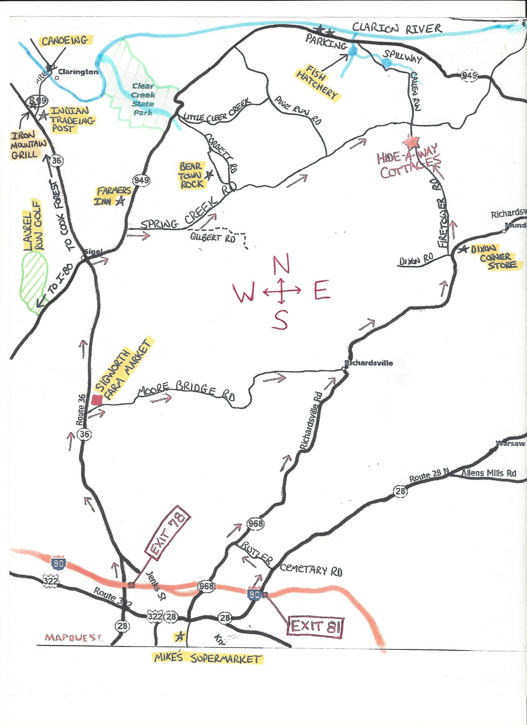 Map of Area